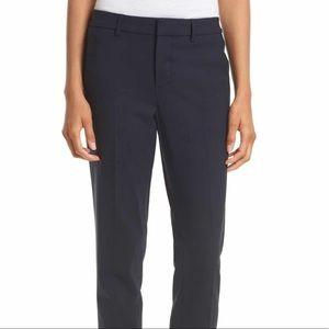 Vince. | Navy Crop Stretch Wool Blend Pants | 8